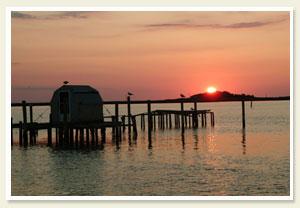 Sunset on Smith Island.