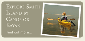 Enjoy Smith Island by Canoe or Kayak. Find out more...