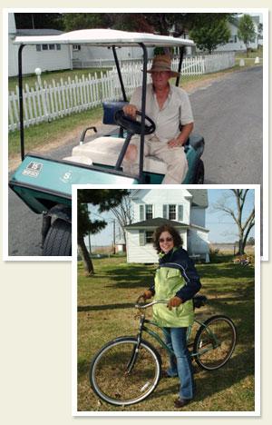 Travel Smith Island by golf cart or bike.