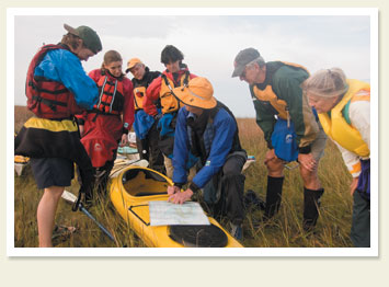 Kayaking on Smith Island.